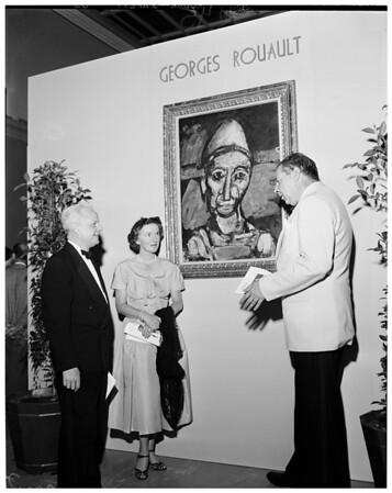 Rouault art exhibit at Los Angeles County Museum, 1953