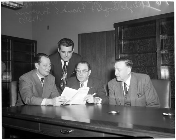 Detail 1 of 6, Un-American activities committee hearing, 1953