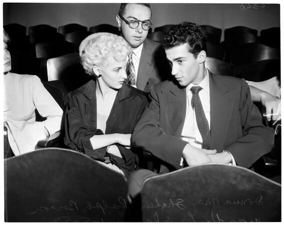 Busty Brown divorce, 1953