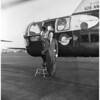Adlai Stevenson arrival at airport, 1956