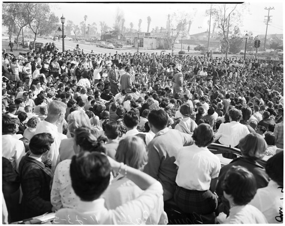 Detail 5 of 18, UCLA victory rally, 1953