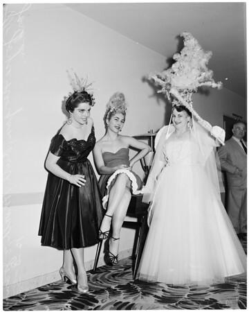 Christmas hair styles, 1953