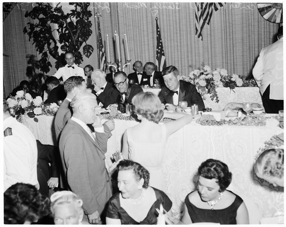 Democrats $100.00 dinner at Beverly Hilton Hotel (Against Capital Punishment), 1960