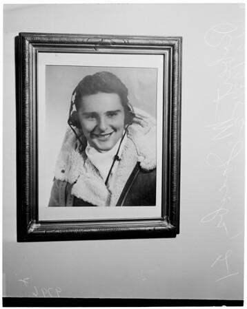 Copy of airman killed in Washington plane crash, 1953
