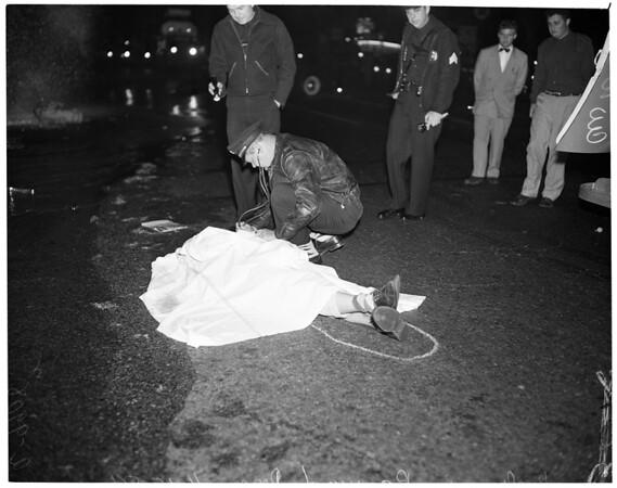 Auto accident (Arapahoe Street and Washington Boulevard), 1954