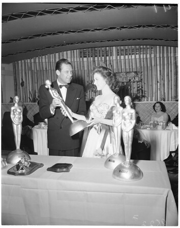 Film awards at Del Mar Club, 1953