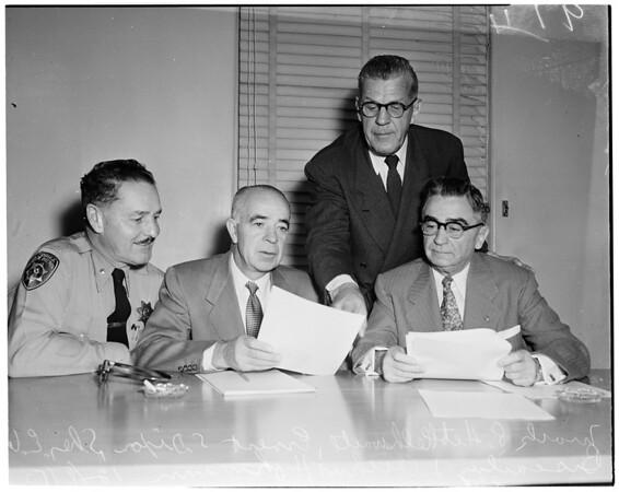 Civil Defense meeting, 1953