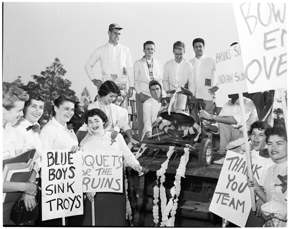 Detail 17 of 18, UCLA victory rally, 1953