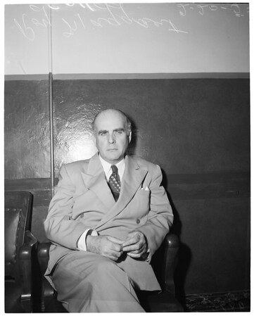 Failure to appear for Grand Theft trial, 1953
