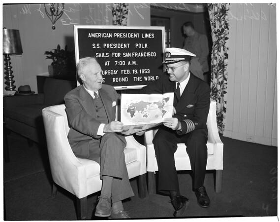 "American President Lines ""Polk"" arrival, 1953"