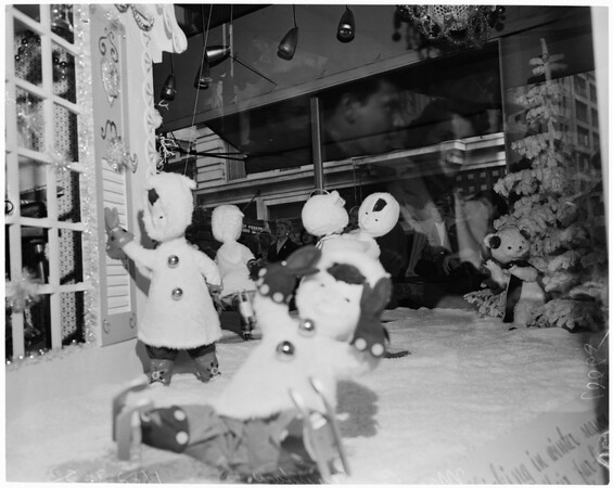 Detail 1 of 7, Downtown Christmas windows, 1953