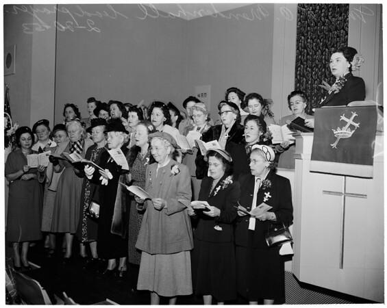 World Day of Prayer (Saint John's Presbyterian Church on National Boulevard), 1953