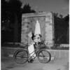 Detail 5 of 6, Bicycling grandmother, 1953