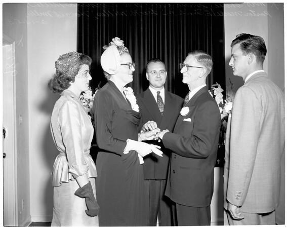 Second wedding (North Hollywood), 1953