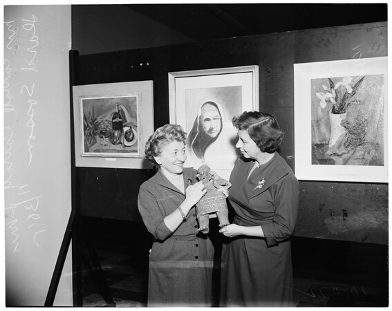 Art exhibits -- Beverly Hills Art Show (ORT) (Women's American Organization for Rehabilitation Through Training), 1953