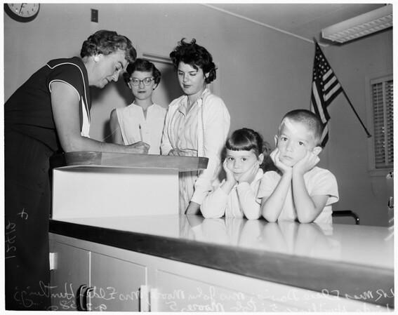 School registration in Van Nuys, 1958