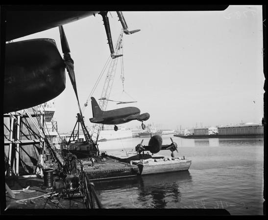 Planes at Los Angeles Harbor, 1953
