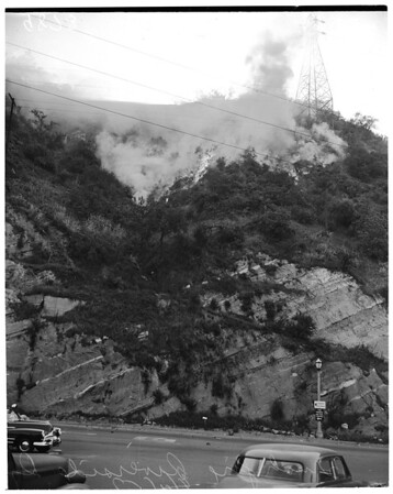 Brush fire (end of Dayton Street bridge and Riverside Drive), 1953