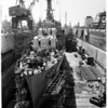 Detail 2 of 2, Damaged destroyers being repaired, 1960