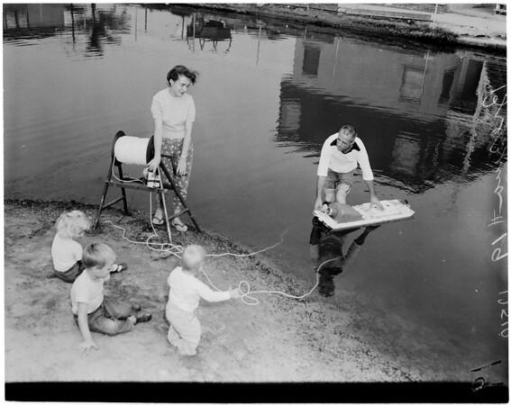 Sewer photo team (Manhattan Beach), 1959