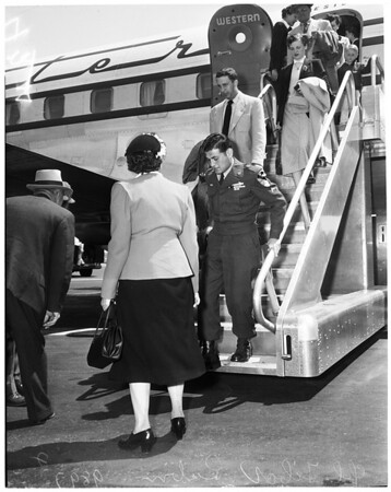 Airport arrival (Prisoner of War), 1953