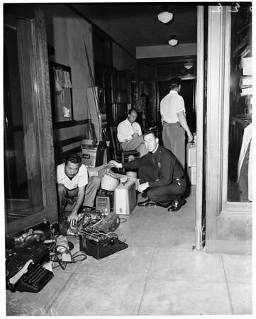 Detail 2 of 5, Burglary loot in West Los Angeles, 1953