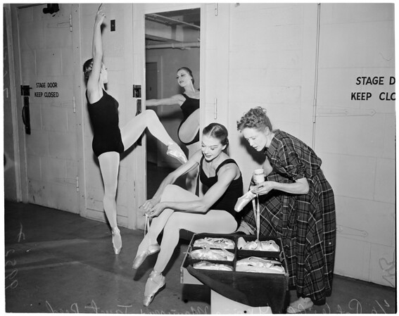 Detail 1 of 6, Ballet at Greek Theatre, 1953