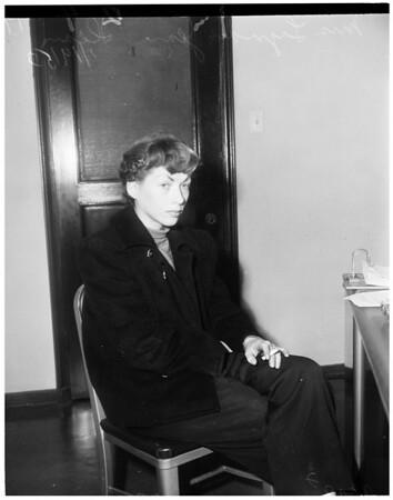 Narcotics arrest, 1953