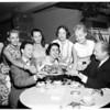Royal Danish Ballet group eating Danish pastry, 1960