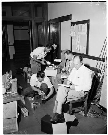 Detail 1 of 5, Burglary loot in West Los Angeles, 1953