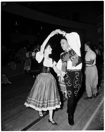 Detail 5 of 6, Folk dances, 1953