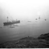"""Grounded ship freed (British Freighter """"Darfield""""), 1954"""
