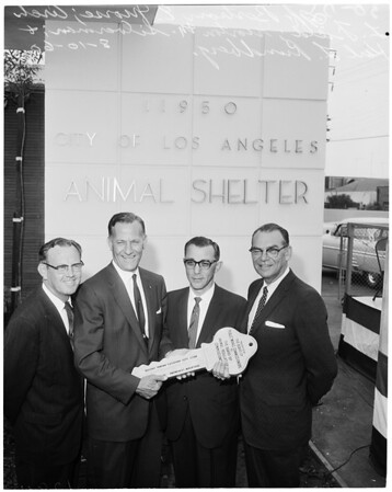 Dedication of West Los Angeles animal shelter, 1960