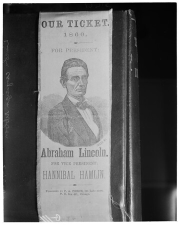 Lincoln campaign ribbon of 1860, 1960