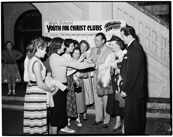 Youth for Christ Christmas program, 1953
