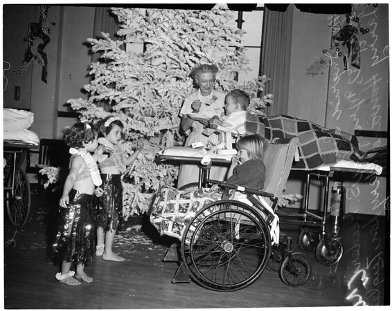 Orthopedic Hospital Christmas party, 1953