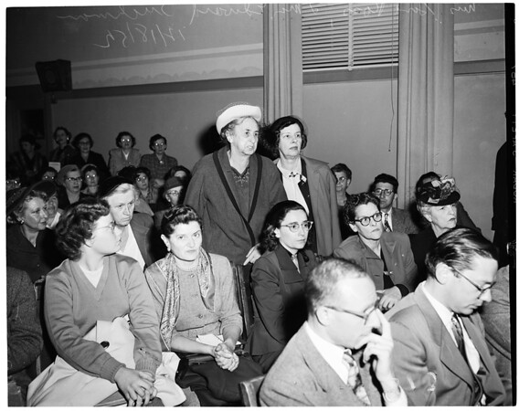 Detail 4 of 17, School Board loyalty hearing, 1952