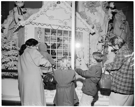 Detail 6 of 7, Downtown Christmas windows, 1953