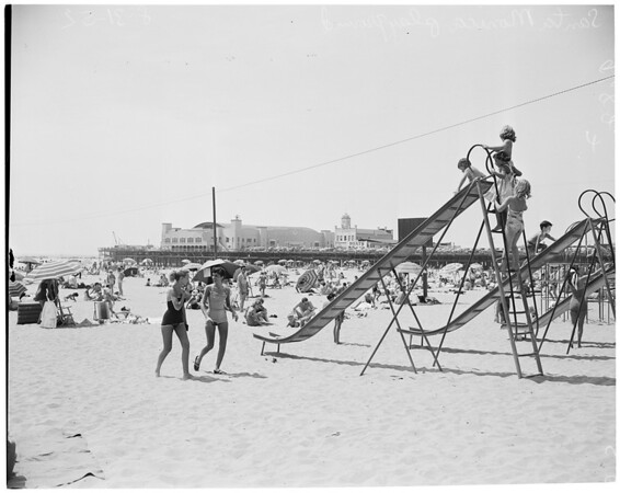 Beach pictures, 1952