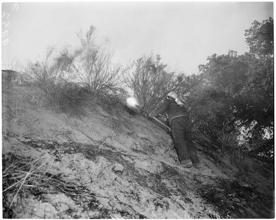 Detail 4 of 17, Fire at Dry Canyon 3 miles North East of Saugus, 1953