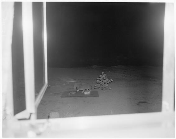 Wild animal feeding feature in Kernville, 1960