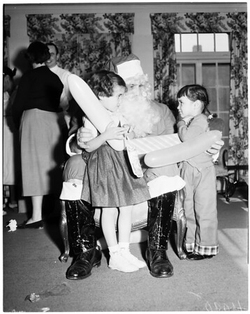 Methodist Hospital League Christmas party, 1953