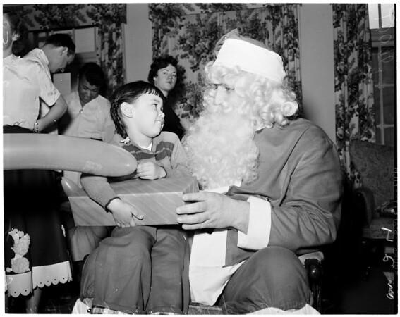 Methodist Hospital League Christmas party, 1953