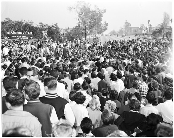 Detail 8 of 18, UCLA victory rally, 1953