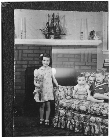 Copies of Barbara Schmidt when she was a child (Rose Queen), 1953