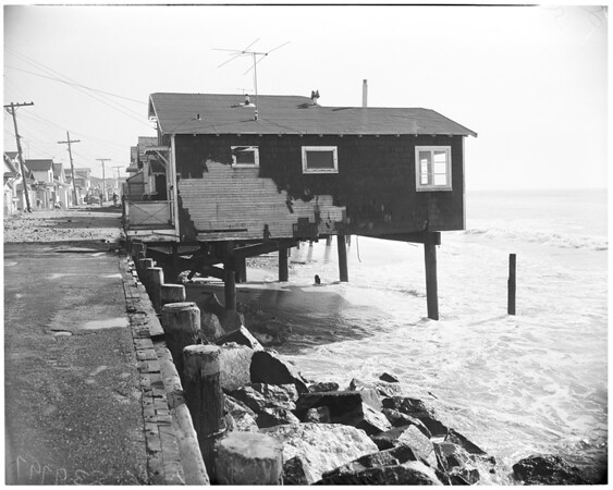 Beach erosion at Surfside Colony, 1953