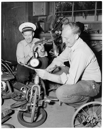 Toys for needy (Fontana Fire Department), 1953