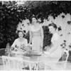 Detail 1 of 4, Della Robbia Guild planning Hawaiian dansette party, 1955