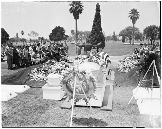 Garrard mass funeral (Inglewood), 1953