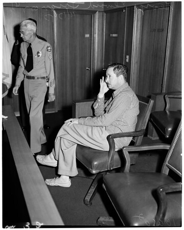 Detail 5 of 5, Kidnap arraignment, 1953